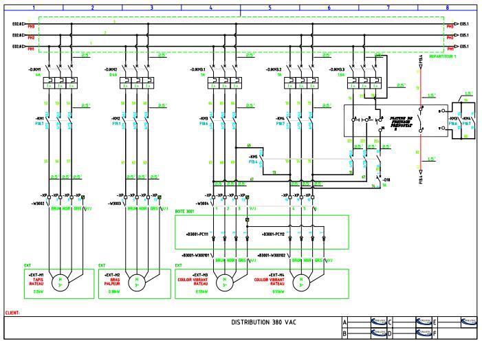 Schema electrique autocad